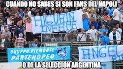 Enlace a Los fans del Napoli ya están hartos del culebrón Higuaín