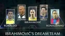 Enlace a El equipo ideal de fúbol sala de Zlatan. Sería el más temible del barrio