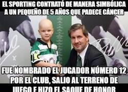 Enlace a Gran gesto del Sporting de Lisboa