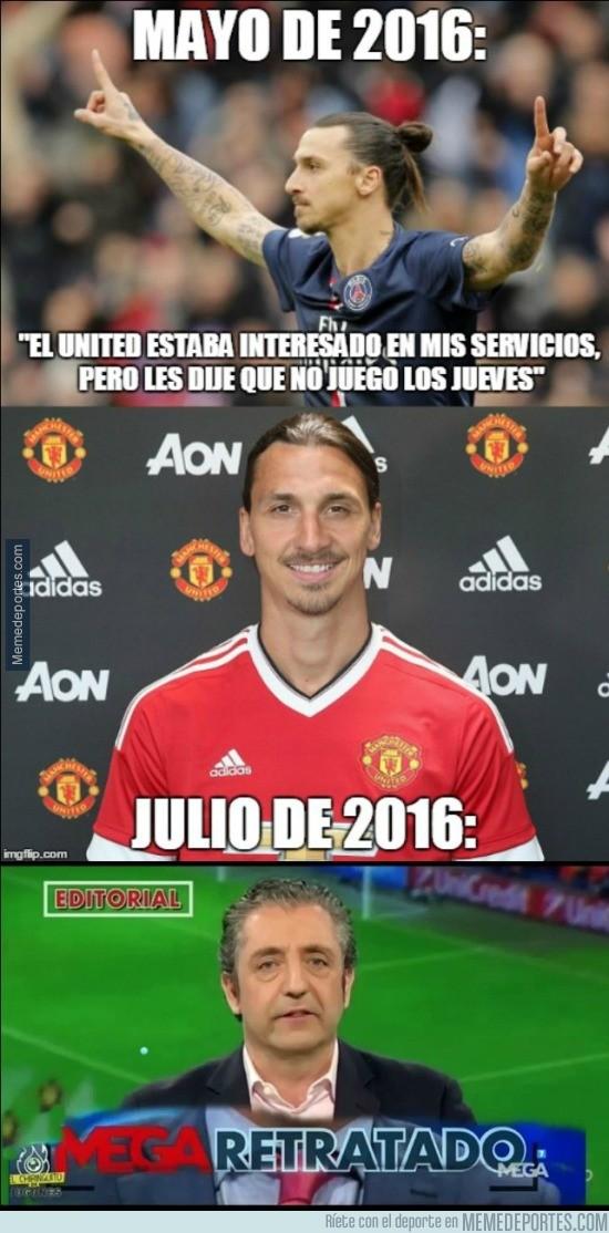 893171 - Las declaraciones de Zlatan riéndose del United hace 2 meses