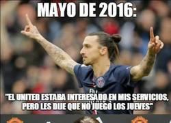 Enlace a Las declaraciones de Zlatan riéndose del United hace 2 meses