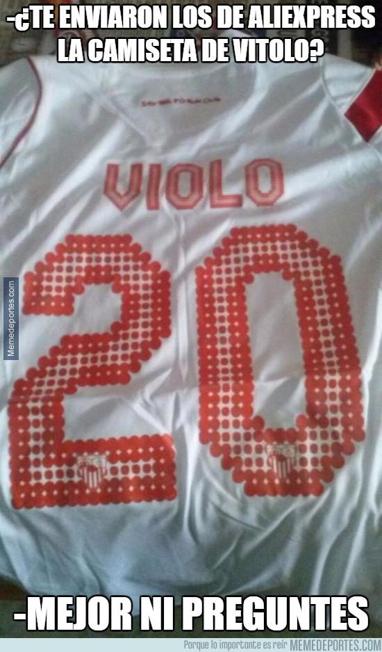 893322 - Fail máximo comprando online una camiseta de Vitolo