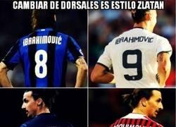 Enlace a Zlatan y los muchos dorsales que tuvo
