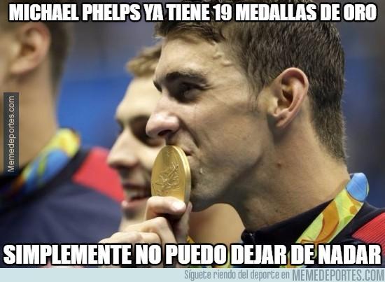 895772 - Michael Phelps ya tiene 19 medallas de oro