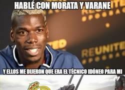 Enlace a Morata y Varane mandaron a Pogba al United