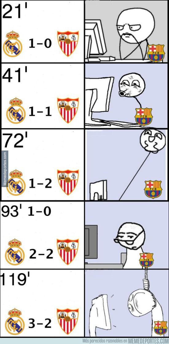 896445 - Aficionados del Barça durante Real Madrid-Sevilla de Supercopa de Europa
