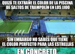 Enlace a Y como ponen verde a la organización de los JJOO, pues ellos ponen el agua verde de la piscina