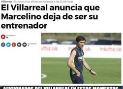 Enlace a Marcelino deja de ser entrenador del Villarreal, a días de la previa de Champions