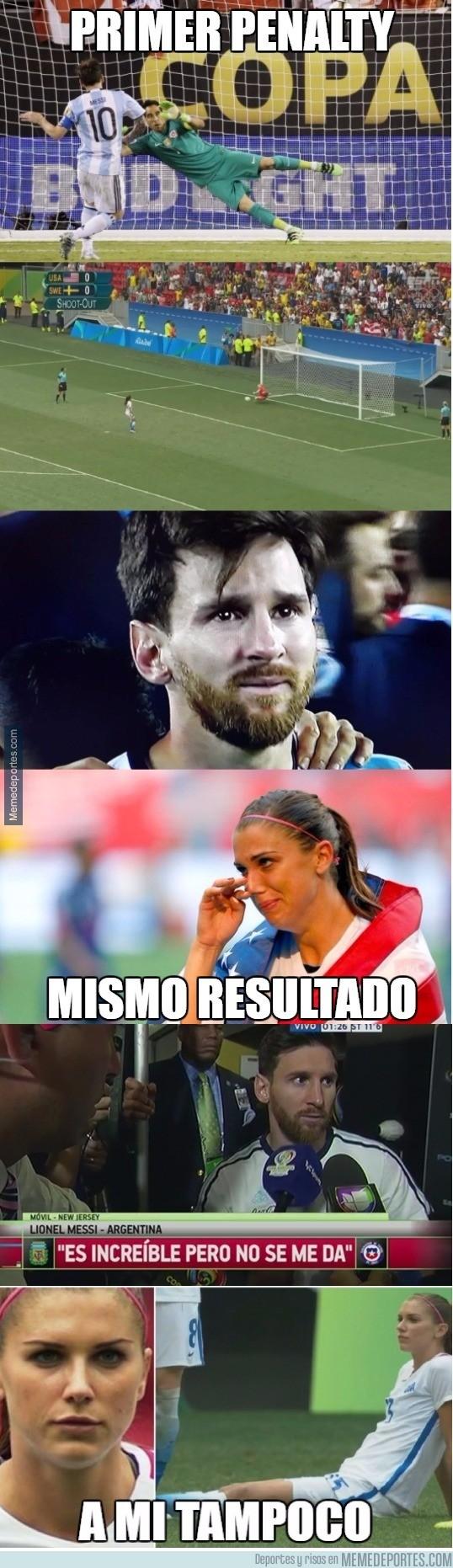 897203 - Alex Morgan y Messi, unidos por un mismo sentimiento