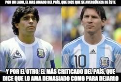 Enlace a Diferencias entre Messi y Maradona