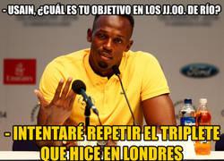 Enlace a Usain Bolt tiene claros sus objetivos para los Juegos Olímpicos