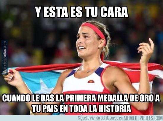897843 - Mónica Puig gana el oro y ya es historia en Puerto Rico