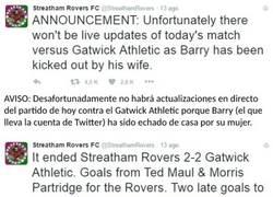 Enlace a Surrealista: las aventuras de Barry, el dueño del Twitter del Streatham Rovers FC