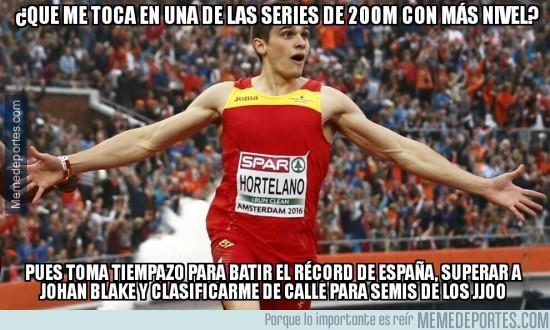 898452 - Brutal lo de Bruno Hortelano con su 20,12 en 200m lisos