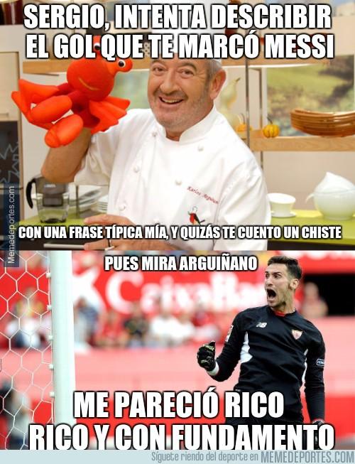 898908 - Sergio Rico se tragó el gol de Messi