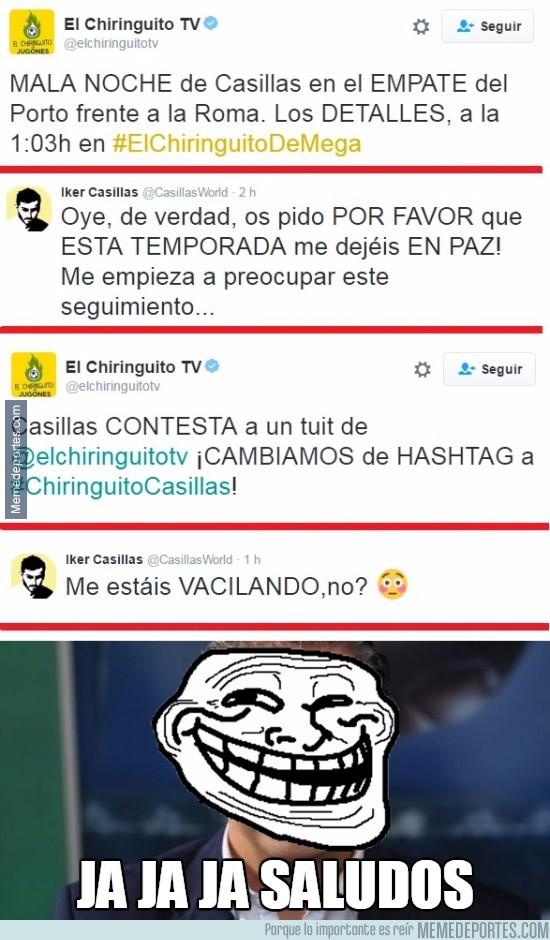 898982 - Casillas dice BASTA y pide que lo dejen en paz pero lo siguen troleando sin parar
