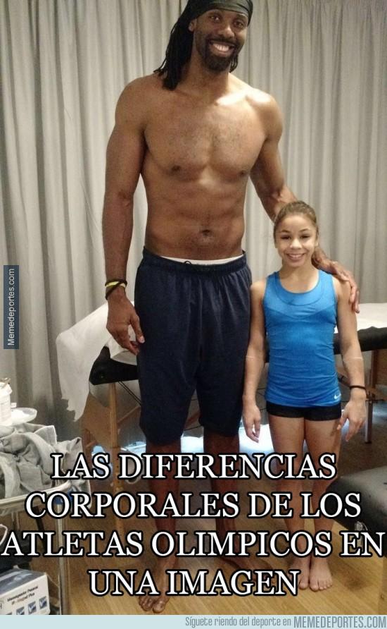 899211 - Brutal diferencia de tamaño entre atletas olímpicos