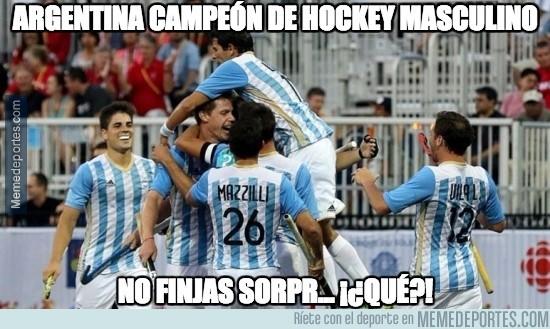 899247 - Argentina campeón de hockey masculino