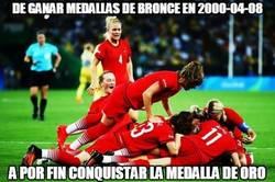 Enlace a Alemania conquista su primer oro en fútbol femenino tras vencer a Suecia en la final de Rio 2016