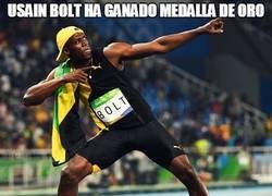 Enlace a Usain Bolt ha ganado medalla de oro
