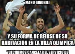Enlace a Así describe Ginobili el estado de su habitación en la villa olímpica