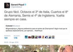Enlace a El tremendo ZASCA de Piqué cuando le preguntan por el grupo de Champions que quiere para el Barça