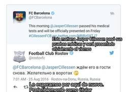 Enlace a Cachondeo extremo del Rostov hacia el Barça tras meterle 4 a Cillessen