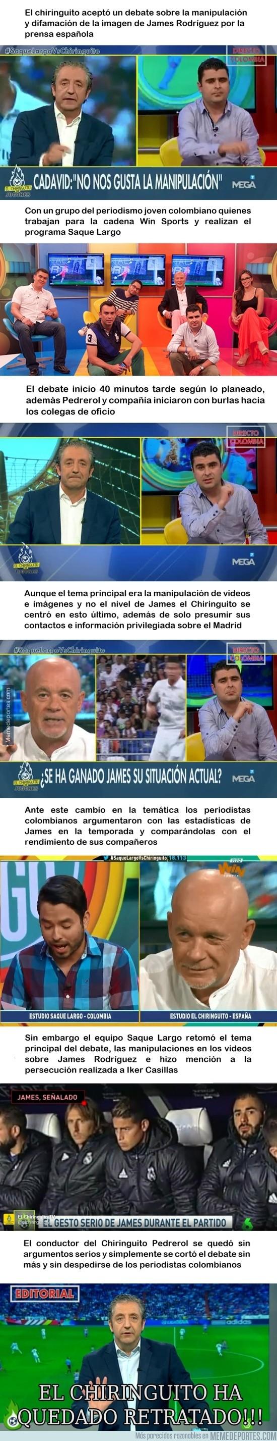 901718 - El lamentable trato de El Chiringuito al Saque Largo (Colombia)