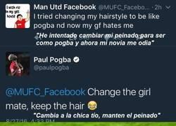 Enlace a Pogba le enseña a un fan en que dirección enviar a su novia