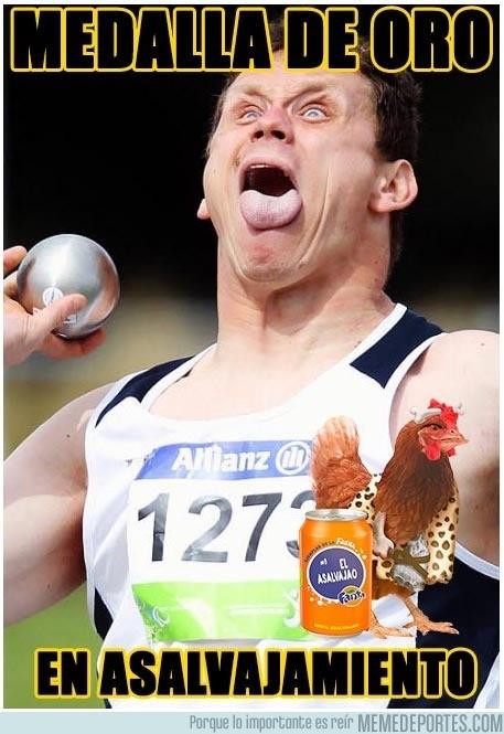 902730 - La cara de un lanzamiento de medalla de oro