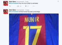 Enlace a El drama del aficionado del Barça que se compró la camiseta de Munir días antes de fichar por el VCF
