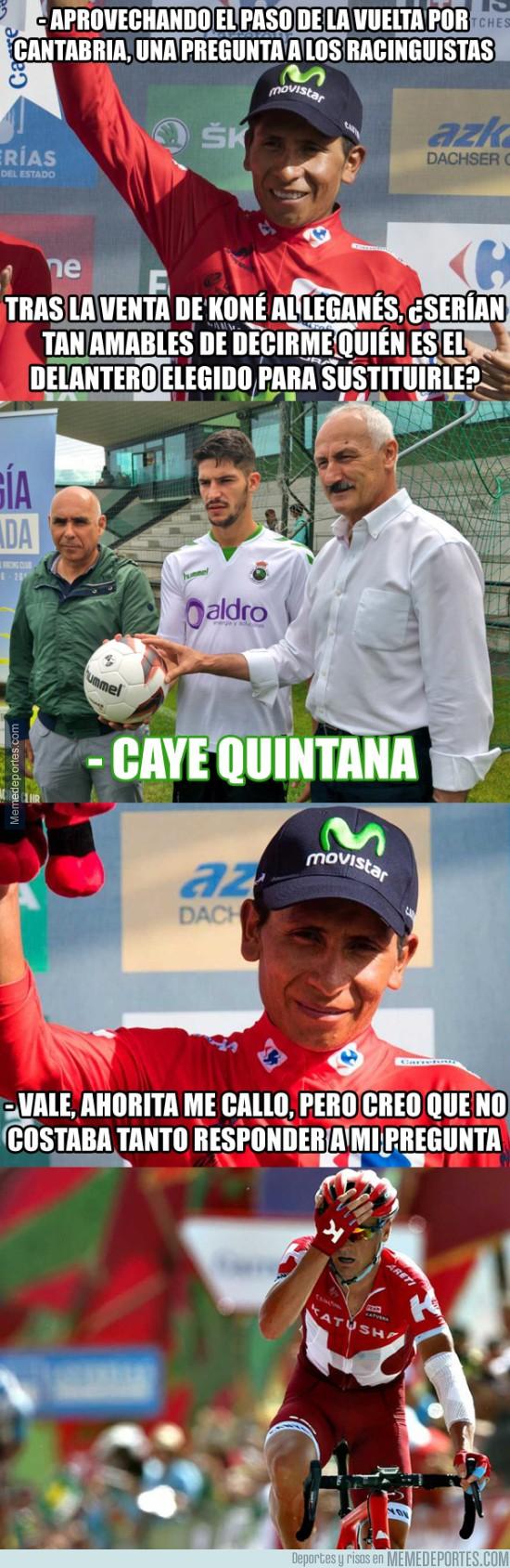 903215 - Nairo Quintana no se ha enterado del último fichaje del Racing