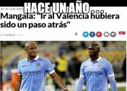 Enlace a Mangala se retrata a si mismo con su llegada al Valencia...