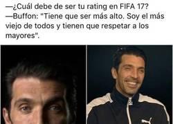 Enlace a La curiosa respuesta de Buffon sobre su media en el FIFA 17