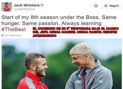 Enlace a El Mega-Gafe de Jack Wilshere antes de empezar la temporada con el Arsenal