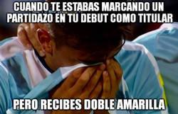 Enlace a Dybala expulsado en su debut con Argentina