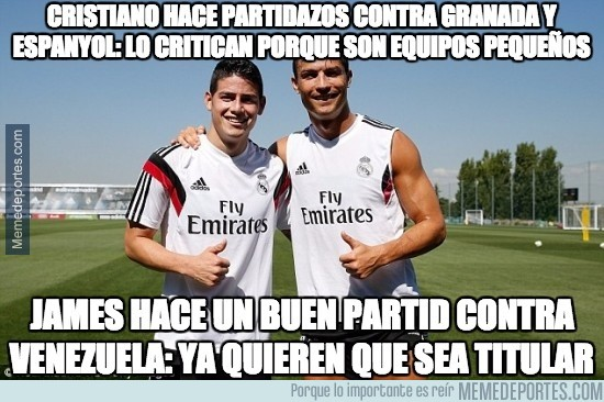903978 - Las diferencias de Cristiano y James