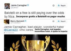 Enlace a Los mensajitos que se mandaron Jamie Carragher y Mario Balotelli