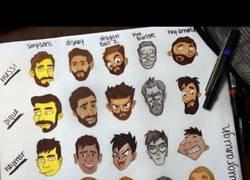 Enlace a Algunos jugadores del Barça hechos dibujos animados