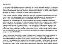 Enlace a Carta de un madridista a Raúl