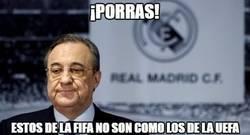 Enlace a Florentino está muy sorprendido tras la sanción de la FIFA