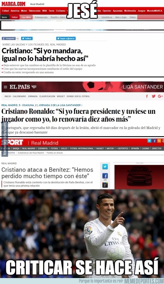 906998 - Las lecciones de Cristiano que aún tiene que aprender Jesé