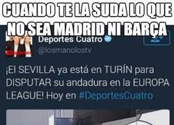 Enlace a La tremenda cagada y falta de respeto al Sevilla por parte de Deportes Cuatro