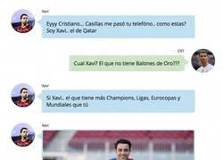 Enlace a La conversación PRIVADA en Whatsapp entre CR7 y Xavi tras su pelea mediática