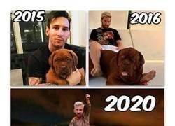 Enlace a La evolución del perro de Messi