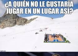Enlace a Increibles imágenes para los amantes del baloncesto en los Alpes Suizos