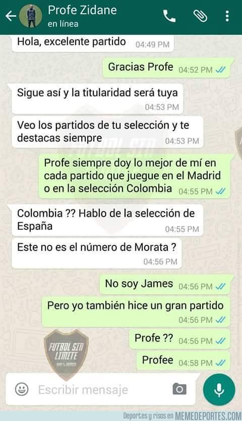 907821 - La conversación privada entre Zidane y James