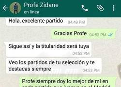 Enlace a La conversación privada entre Zidane y James