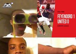 Enlace a El United derrotado por el Feyenoord en Europa League...