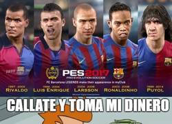 Enlace a Los aficionados del Barça al ver el nuevo PES 17 cargado de leyendas blaugrana